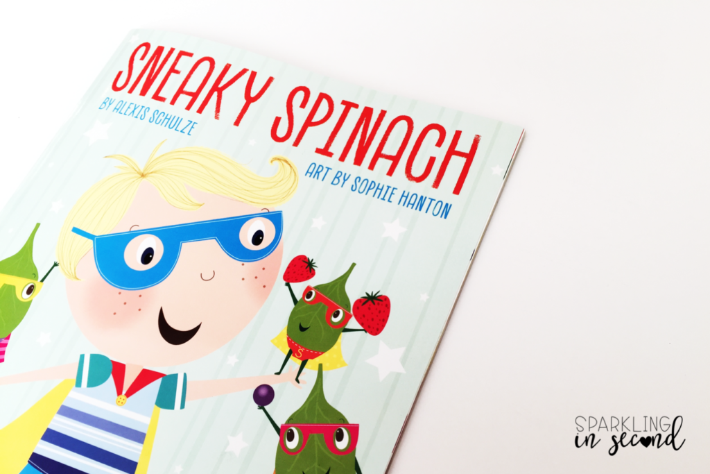 March is National Nutrition Month. Start a discussion around healthy eating with this children's book called Sneaky Spinach.